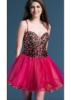 Gorgeous  Spaghetti Straps Sweetheart Homecoming Dress