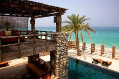 Villa com piscina do Six Senses Zighy Bay