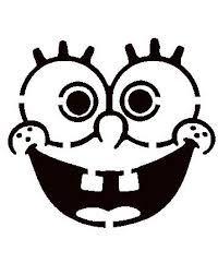 Spongebob Pumpkin Carving Patterns Spongebob by arch Printable Pumpkin Stencils, Pumpkin Carving Stencils Free, Halloween Pumpkin Stencils, Pumpkin Template, Pumpkin Carving Patterns, Free Stencils, Halloween Pumpkins, Halloween Crafts, Halloween Stuff