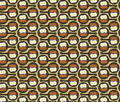 Dean's Bacon and Eggs in a Pan ~ Horizontal fabric by midcoast_miscellany on Spoonflower - custom fabric