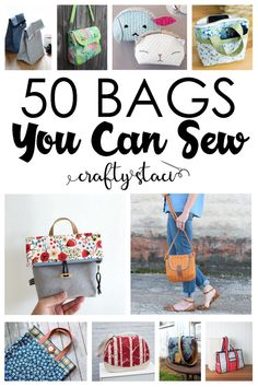 Small Sewing Projects, Sewing Hacks, Sewing Tips, Bag Patterns To Sew, Sewing Patterns, Purse Handles, Patchwork Bags, Reusable Bags, Learn To Sew