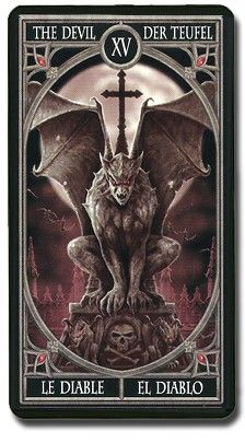 The devil Gothic tarot Anne Stokes, Norse Tattoo, Motorcycle Art, Tarot Cards, Art Music, Occult, Devil, Halloween Decorations, Folk Art