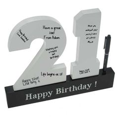 Personalised 21st Birthday Sign Could easily craft this for any age!