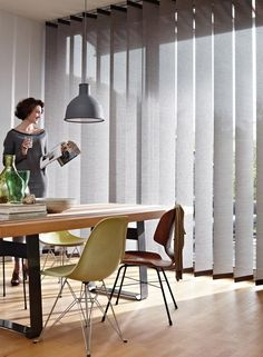 Vertical Blinds from Luxaflex® are the perfect blind for a large door or window. They're also perfect for a humid room like the bathroom or kitchen.