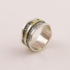 Spinner Ring - Two Tone Scalloped Edge - keja Jewelry – Keja Designs Jewelry