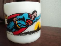 vintage superman coffee mug