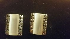 VINTAGE silver and glass pierced earrings Retro Costume, Vintage Silver, Pierced Earrings, Gold Rings, Nail Polish, Nails, Glass, Ebay, Jewelry