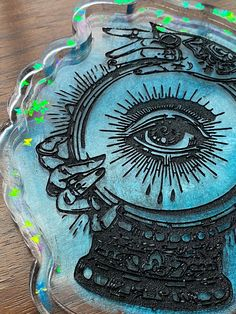 Excited to share this item from my #etsy shop: Fortuna blue butterfly tray #altartools #giftsforher #resintray Copper Frame, All Seeing Eye, Falling Kingdoms, Pocket Notebook, Sea Monsters, Cthulhu, Blue Butterfly, Cute Stickers, Iridescent