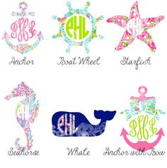Lilly Pulitzer Summer Monogram Decal by MadeByPaigeBoutique
