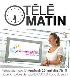 """Jedecoremonvolet est sur télématin vendredi 23 Mai durant la rubrique de Laura """"du web"""". Rdv à 7h10 sur France 2!"""
