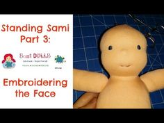 How to embroider the face of a Waldorf Doll/ cloth doll Step by Step - YouTube