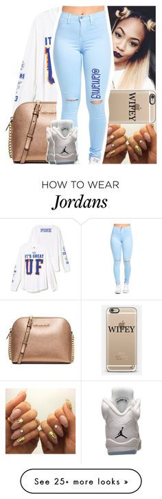 """""""you don't have to fight that, here's a pillow bite...that"""" by lamamig on Polyvore featuring MICHAEL Michael Kors, Retrò, women's clothing, women, female, woman, misses and juniors"""