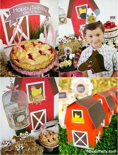 Bird's Party Blog: My Kids' Birthday Party: A Joint Barnyard Birthday!