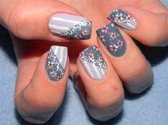 Vintage nail art design by PinkiePayne – Nail Art Gallery nailartgallery.na … b … - Unasele Gantes Fruit Nail Designs, Nail Art Designs, Nails Design, Concert Nails, Vintage Nail Art, Classy Nail Art, Dot Nail Art, Flower Nail Art, Best Acrylic Nails