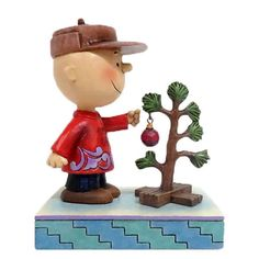 Peanuts Charlie Brown with Tree Find the Christmas Spirit Jim Shore NIB -