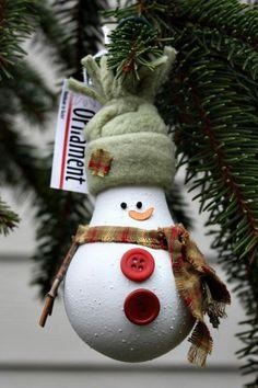 bastelideen für weihnachten glühbirne knöpfe