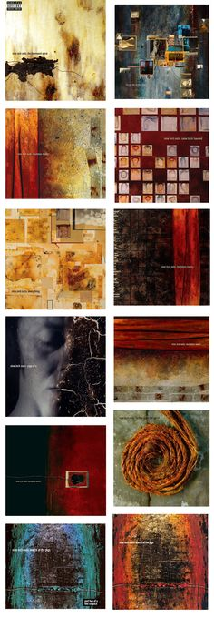 Covers  Nine Inch Nails for Russ Mills.    Characteristically Mills became totally immersed in the commission, producing over 30 new works for possible use. Working in close collaboration with NIN designer Rob Sheridan, Hesitation Marks was released in multiple versions, each using different artworks made by Mills and several singles were also released each utilising new artworks.