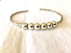 Silver Cuff Bracelet by Green Mango Imports on Etsy