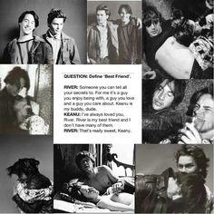 Keanu Reeves and River Phoenix My Best Friend, Best Friends, Keanu Reeves Young, Keanu Charles Reeves, Oscar Wilde, River Phoenix Keanu Reeves, My Own Private Idaho, Young Leonardo Dicaprio, La La Land