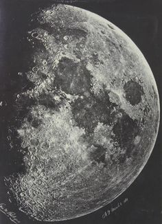 Lewis M. Rutherford     The Moon from New York City     1865