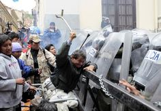 Scores of disabled people on crutches and in wheelchairs fought police in La Paz, Bolivia's capital, over demands for better welfare support, injuring several and fuelling anger against the state. [click on this image to find a short video, which explores what it would be like ablebodied people were a minority]