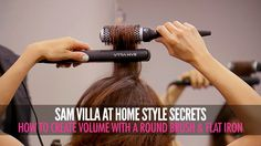 How To Create Volume With a Round Brush and Flat Iron