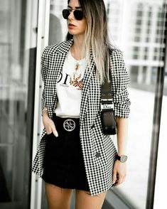 winter blazer feminino england office lady casual pink plaid blazer women blazer mujer 2019 women blazers and jackets Mode Outfits, Office Outfits, Fall Outfits, Summer Outfits, Fashion Outfits, Office Wear, Casual Office, Stylish Office, Office Uniform