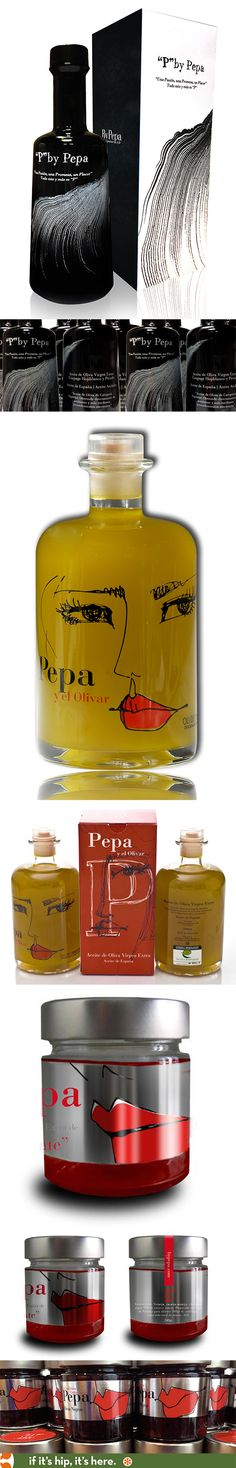 By Pepa's beautifully designed and packaged products; two olive oils and confitures.