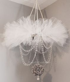 This tutu/chandelier/mobile is so gorgeous! Found on FacesbyFarah.com