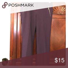 Dress pants Purple with zipper accents Pants