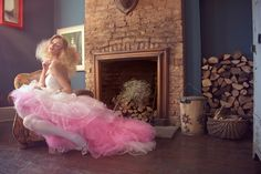 Pink ombre wedding dress by Louise O'Mahony Photo © 2011 of  Julian M Kilsby