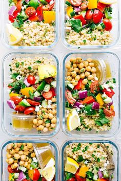 20 Healthy Recipes You Can Meal Prep This Week A delicious and healthy Greek couscous salad that everyone will go crazy for Meal prep options and tips included via chelseasmessyapro healthy salad couscous Healthy Diet Recipes, Healthy Meal Prep, Healthy Snacks, Vegetarian Recipes, Healthy Eating, Healthy Options, Healthy Vegetarian Lunch Ideas, Veggie Meal Prep, Keto Recipes