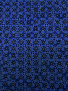 Fabric Mart :: Fabrics P-Z :: Ponte Knit :: Royal Blue/Black Interlocking Circle Ponte Knit 58W