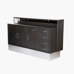 Crewe Orlando Monaco Reception Desk is a extra large desk which features 5 drawers, one of which is locking, storage cupboard and open work space. Salon Reception Desk, Large Desk, Salon Furniture, Cupboard Storage, Monaco, Orlando, Salons, Home Decor, Lounge Furniture