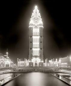 Shorpy Historical Photo Archive -  Dreamland at Night, Coney Island, NY, c. 1905. S)
