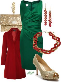 """""""Holiday Party Time - The Holly and The Ivy"""" by amy-phelps on Polyvore"""