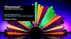 """SIEDEMZERO™ VideoMapping with stage design for folk group """"Mazowsze"""" on Vimeo Interactive Display, 3d Video, Stage Design, 3d Animation, Folk, Rainbow, Concept, Map, Group"""
