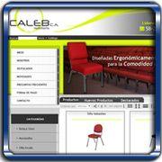Organización:   Mobiliario Caleb;   Ubicación:   Cagua - Venezuela;   Enlace:   http://www.mobiliariocaleb.com/index.php;   Segmento:  Mobiliario;   Año:   2011