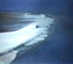 Ramón Serrano, Malecon No.5, El Malecon La Nostolgia, La Rasistencia y El Bolero, 2011, oil on canvas, 53x63in © Courtesy Corkin Gallery #travel #ocean