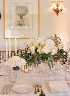 Tiffany and Peter Classic Garden Wedding at San Ysidro Ranch Wedding Featured on Snippet and Ink Floral Centerpieces, Wedding Centerpieces, Floral Arrangements, Eucalyptus Centerpiece, Summer Centerpieces, Centrepieces, Budget Wedding, Wedding Table, Wedding Planning