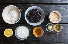 полезные десерты, ингредиенты, рикотта, ягоды, мед, овсянка
