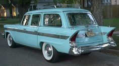 1957 Packard Clipper Station Wagon.  I'd love to have an old station wagon like this!