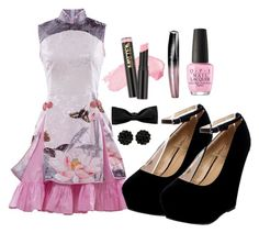 Lolita Look 77 by ivanna1920 on Polyvore featuring polyvore fashion style Hermès Rimmel OPI clothing