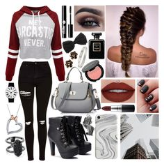"""""""Untitled #122"""" by nirataa ❤ liked on Polyvore featuring WithChic, Topshop, Recover, Illamasqua, MAC Cosmetics, Charlotte Russe, Chanel, Chantecler, Cartier and Rosendahl"""
