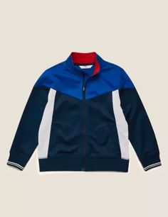 Buy the Cotton Zip Through Sweatshirt (2-7 Yrs) from Marks and Spencer's range. Tricot Fabric, Suit Shop, Formal Shirts, Knitwear, Kids Outfits, Zip, Sweatshirts, Cosy, Cotton