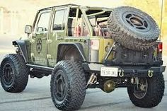 Jeep Tire Carrier, Monster Trucks, Vehicles, Image, Car, Vehicle, Tools