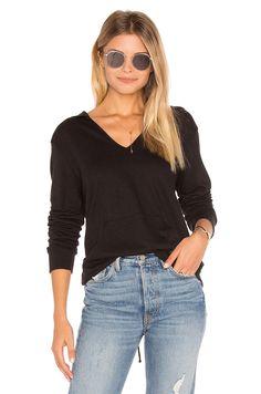LANSTON LACE-UP BACK HOODIE. #lanston #cloth #dress #top #shirt #pant #coat #jecket #jacket #shorts #ski
