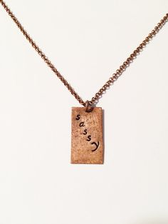 Sassy Necklace by MallEadornments on Etsy