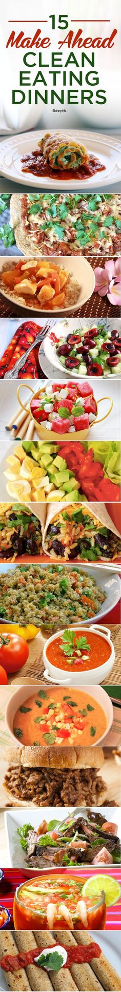 During the week, it is nice to have food that I can just grab and go with. These 15 Make Ahead Clean-Eating Dinners are excellent for that! #recipes #planahead #menuplanning