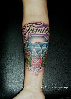 Diamante simbolizando a importancia da familia  na  minha vida